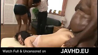 Black robbers abused japanese wife watch full uncensored on http:javhd.eu