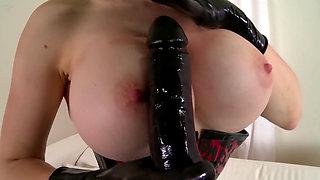 Latex Lucy hot masturbation in latex dress