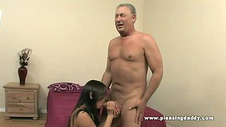 Daddy fucks his dream girl