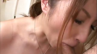 Big titty Araki has a blast in her bosses kitchen giving