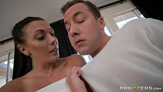 Rachel Starr is a cutie with braids happy to ride a fat cock