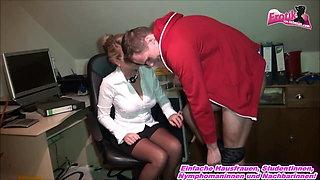 German milf office secretary Milf fuck young trainee