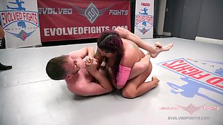Mixed wrestling with cream pie prize ending wrestlers fuck