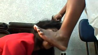 Brazil ebony foot domination