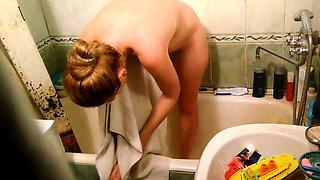 Amazing filthy Bath hidden cam