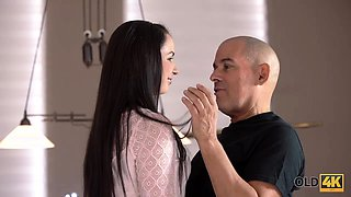 OLD4K. Attractive teen approaches older guy hoping to...