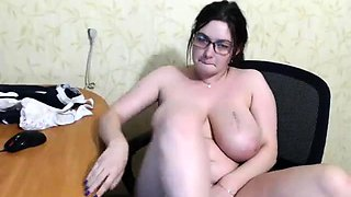 Big boobs brunette swallowing jizz