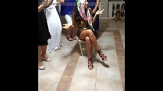 Turkish bride ass - before wedding party