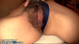 Hairy japanese wants to fuck in spandex