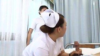 Best Japanese whore Yuri Aine, Yu Kawakami, Aya Sakuraba in Fabulous Nurse, POV JAV scene