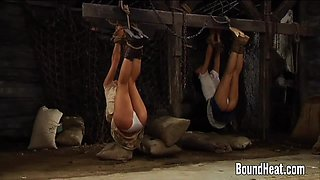 Young Girls Thrown In Bondage
