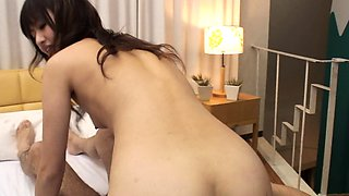 Skinny Asian idol enjoys a passionate bedroom 69 and fucking