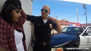 two cops force latina gang member