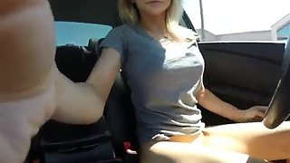 21 squirting in the car
