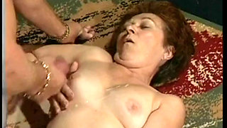Hot german granny and her young lover