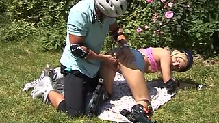 Roller Girl Gets Fucked Outdoors