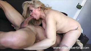 Spanish milf musa libertina tries the cock of her new chauff