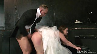 Magnificent cheating bride Olga Cabaeva getting fucked rough