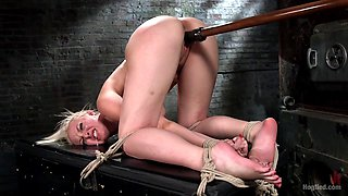 Jenna Ivory in The Marilyn Monroe Of Porn In Tight Bondage With Extreme Torment And Orgasms - HogTied