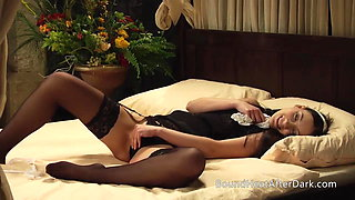 Lustful Thoughts Drives Lesbian Maid To Blushing Orgasm