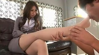 Crazy Japanese whore in Best Cunnilingus, Secretary JAV video