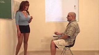 Vintage slut teacher fucks hard