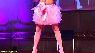 skinny teen doll dancing naked on stage