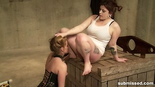 Hardcore spanking and pussy abuse with Lilly Ligotage and Sophie