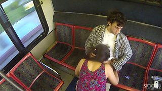 Unforgettable sex session in a public bus featuring Anastasia Black