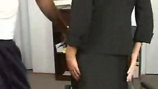 Hot busty secretary milf gets banged by her horny boss