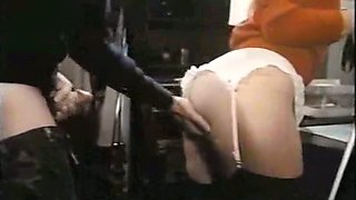 Submissive and wild classic blonde chick fucked in doggy style