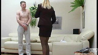 Office Sex with the Hot Blonde Boss