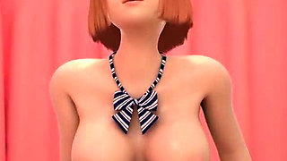 Animated babes sharing cock in threesome sex
