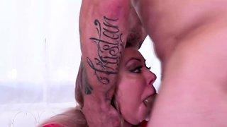 Huge tits woman used like toilet