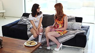 Nerdy Chicks Explore Each Other Sensually