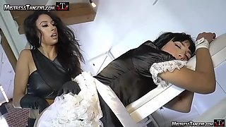 Sissy maid in chastity bullied &amp fucked
