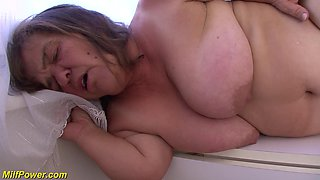 extreme small hairy big natural breast Milf sucking and fuking her first big black cock