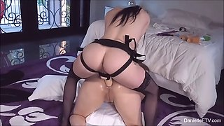 mind-blowing anal lesbian session of two chicks using a strap-on