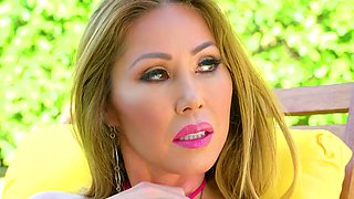 Sexy Asian-Canadian hot lady Kianna Dior is so into working on fat cock