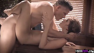 College babe assfucked by horny professor