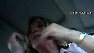 UK Car blowjob with blonde mom Kathey