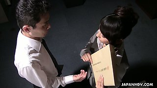 Japanese personal assistant Chiharu Nakai rides her boss on top