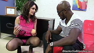 Rough anal sex with a monster black cock for Sarah Shevon