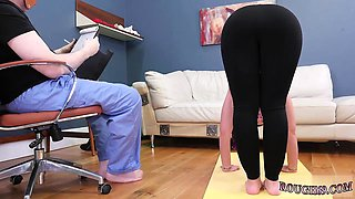 Brutal dad companion's daughter xxx Ass-Slave Yoga