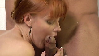 In the Shower with Redhead Marie McCray