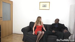 Horny Housewife Luca Bella Takes a Black Cock Up Her Ass as Hubby Watches