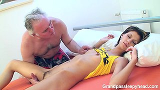 Sleeping Girl Fucked By Grandpa