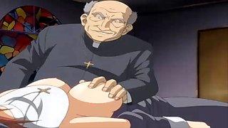 horny big tits saint anime girl fucked hard