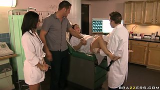 Cock-Bursting Brunette Nurse Ann Marie Rios Gets Fucked and Facialized