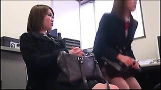 Naughty Japanese schoolgirls feed their wild desire for cock